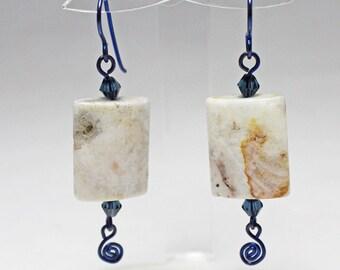 Niobium & Gemstone Earrings