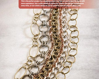 Elemental Metal Bracelet Tutorial, Mixed Chain, 7 Strand, Slide Clasp