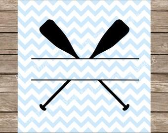 Camping svg, Paddles svg, Kayak svg, Split Monogram svg, Monogram svg, Oar svg, Summer svg, svg files for cricut, Camp svg, Camper svg, svg