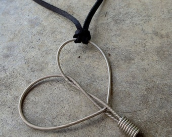 LIMITED EDITION Recycled Bass String - Restored Heart Pendant