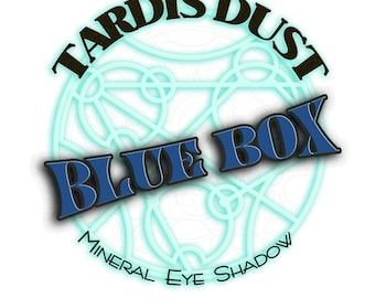 TARDIS DUST *Blue Box* Doctor Who Inspired Loose Mineral Eye Shadow - TARDIS Blue