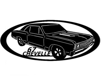 1967 Chevelle - Wall Art - Metal Art - Home Decor - Car Art -  Makes a GREAT gift!