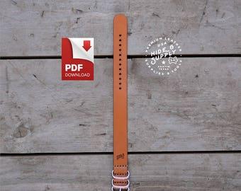 "Watch Strap Pattern Guide 20mm Slip-Through NATO Zulu Timex Weekender PDF Template (8.5"" x 11"")"