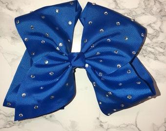 Blue crystal bow