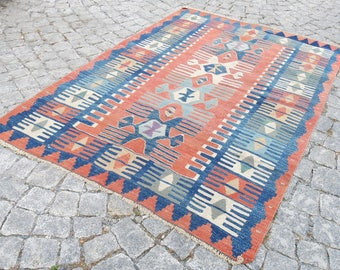 kilim rug runner, Turkish kilim rug ,vintage kilim , bohemian kilim rug, faded kilim rug
