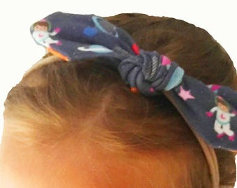Space girl mini bow, nylon headband, outer space, astronaut, rocket