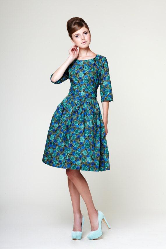 Wedding guest dress 1950s dress 50s dress Plus size dress