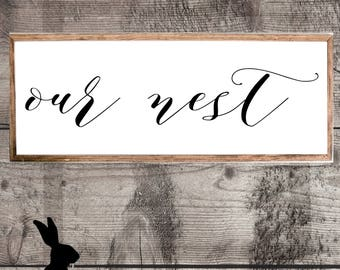 Rustic Farmhouse Printable, Our Nest, DIY Decor, Wall Art, Gallery Wall, Country Chic, Fixer Upper
