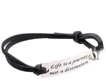 Inspirational Jewelry Bracelet –Life Is a Journey, Not a destination