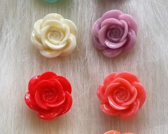 rose flower post earrings - limited edition colours
