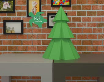 DIY papercraft 3d xmas tree
