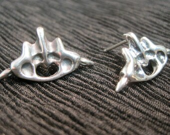 "Sterling Silver Post Earring - Organic - ""Alyssa"""