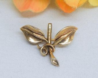 Trifari Branch & Leaf Brooch