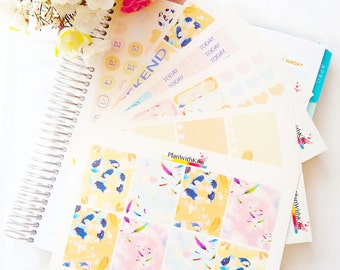 DISNEY Pocahontas Themed Weekly Planner Sticker Kit (ECLP, Vertical Planner, Autum stickers, Ombre, Hydrate, Weekend Banner, Full Boxes)