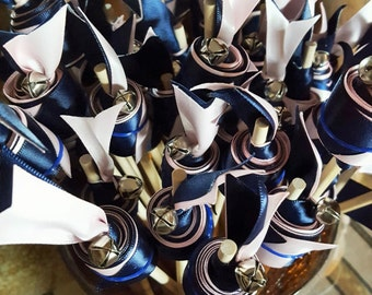 Wedding Ribbon Streamers with Bells Great for Wedding Ceremonies, Party Favors, Outdoor Wedding, Send off idea-50 count Double Ribbon