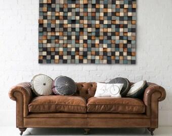 Wood Wall Art - Wood Wall Art - Reclaimed Wood Art Sculpture - Rustic Wall Art