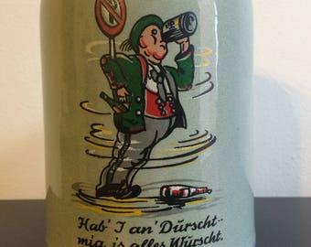 Vintage German Stoneware Beer Stein