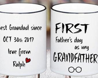 First Grandfather's day mug,coffee mug,custom father's day,mugs,gift.