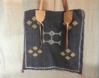 Vintage Moroccan design cross shoulder bag