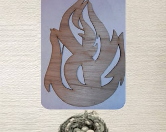 Flame / Fire -  (Large ) Wood Cut Out -  Laser Cut