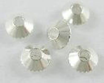 10 beads bicone spacer beads 4mm. (9998420)