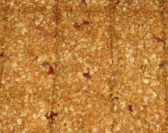 9 pieces coconut - cherry flapjack.