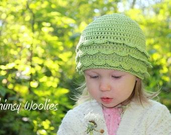 Crochet Hat Pattern: 'Rose Petal' Crochet Beanie (Newborn, 3mo, 6mo, 12mo & Toddler)