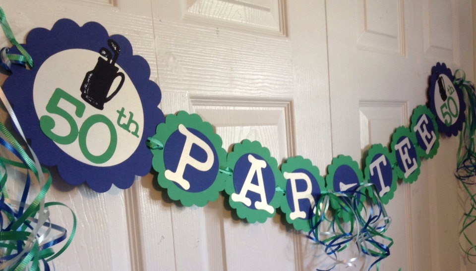 Golf Themed Party Decorating Ideas Part - 29: 50th Birthday Decorations Par Tee Golf Theme Party Ideas