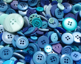 Blue Sewing Button