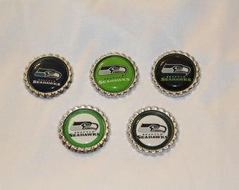 Seattle Seahawks Inspired Decorative Magnets