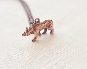 little bear necklace.