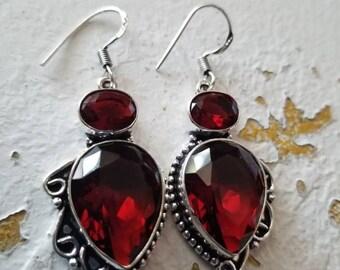 Red Quartz Earrings!