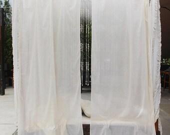 Bohemian Curtains  Tribal Arrows Window Curtain Boho Home Decor Beach House  Bedroom Curtains Block Print