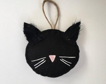 The Black Cat Halloween Ornament