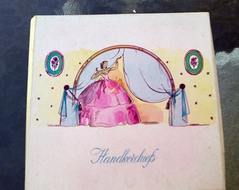 Vintage Boxed Handkerchiefs Hand Embroidered