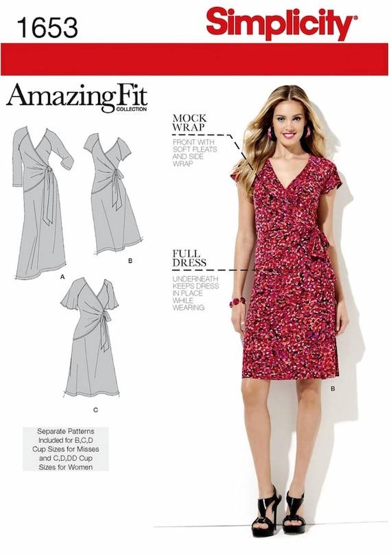 Sewing Pattern Women\'s Dress Pattern Mock Wrap Dress