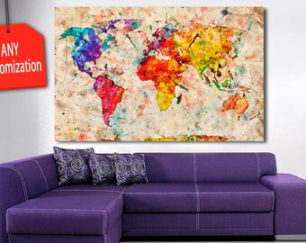 1 5 panel world map canvas painting warm world 1 5 panel colorful world map canvas painting bright world map wall gumiabroncs Gallery