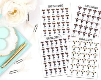 Cute Cheerleader Planner Stickers