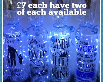 Father's Day light up bottles