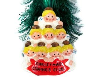 Vintage Christmas Bank, 1970's Christmas Savings Club Bank, Angel Bank, Bank Giveaway, Christmas Decor, Christmas Figurine