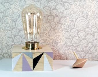Scandinavian Lighting - Geometric Lamp - Modern Living Room Lamps - Mid Century Modern Table Lamp - Contemporary Lamps - Wooden Desk Lamp