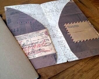 Midori Travelers Notebook Card Pocket Dashboard Insert,  Dashboard, Fauxdori insert, Traveler NB Accessory, Jandori, Midori Organiser Insert