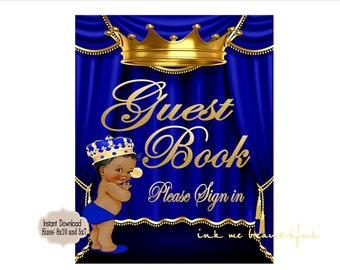 PRINTABLE Royal Baby Shower Guest Book Sign 8x10 or 5x7, Royal Baby Shower Decor,  Royal Collection