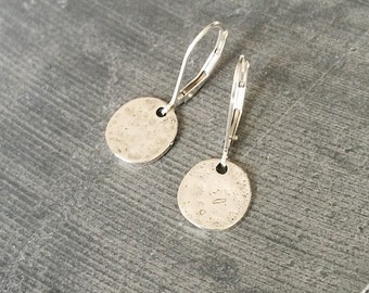 Small Silver Disc Earrings