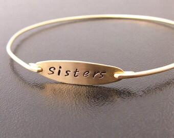 Sisters Bracelet, Sister Gift, Christmas Gift for Sister In Law, Christmas Gift, Present for Sister, Present Holidays, Hand Stamped Bracelet