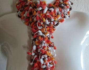 Tassel scarf crochet