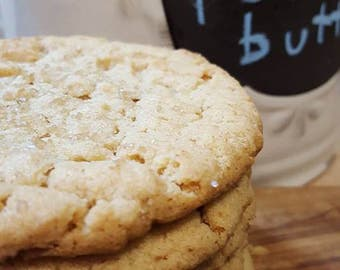 Honey Bourbon Peanut Butter Cookies