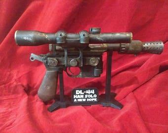 Star Wars Custom Han Solo Dl 44 Heavy Blaster Pistol Made
