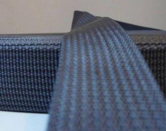 25 mm gunmetal grey polypropylene webbing