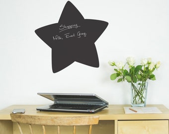 Chalkboard Sticker  - Star shapes - Wall art - Wall decals - Wall stickers - kitchen-Wall Sticker